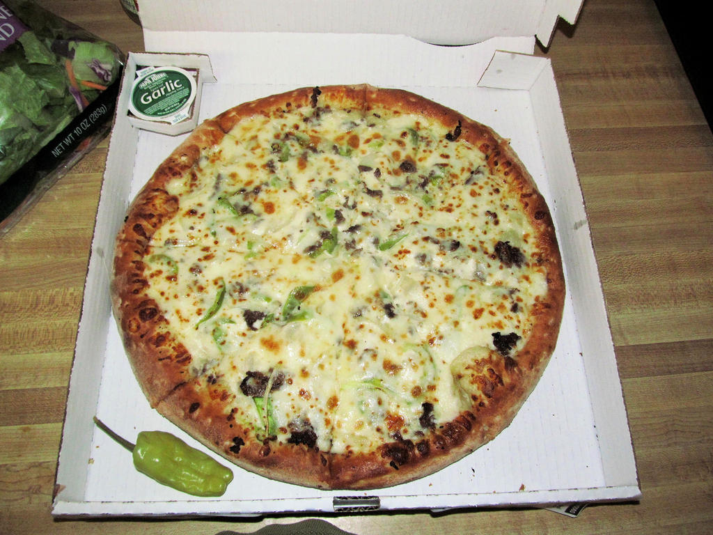 philly cheese steak pizza calories papa johns