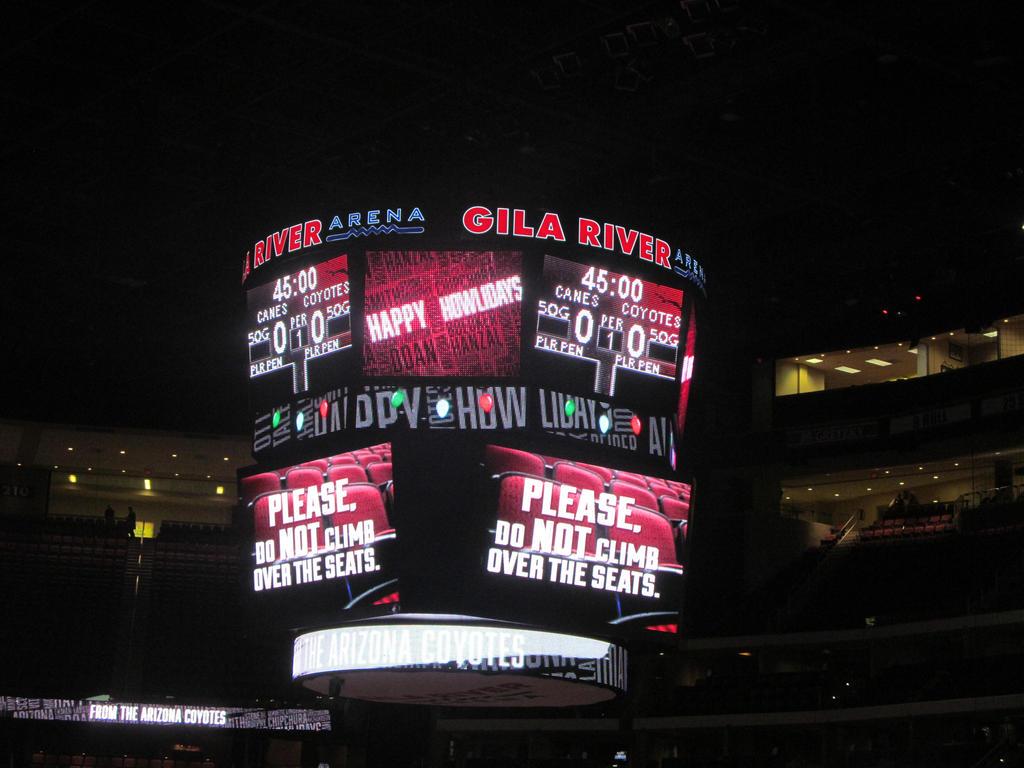 2015-16 Gila River Arena Scoreboard by BigMac1212