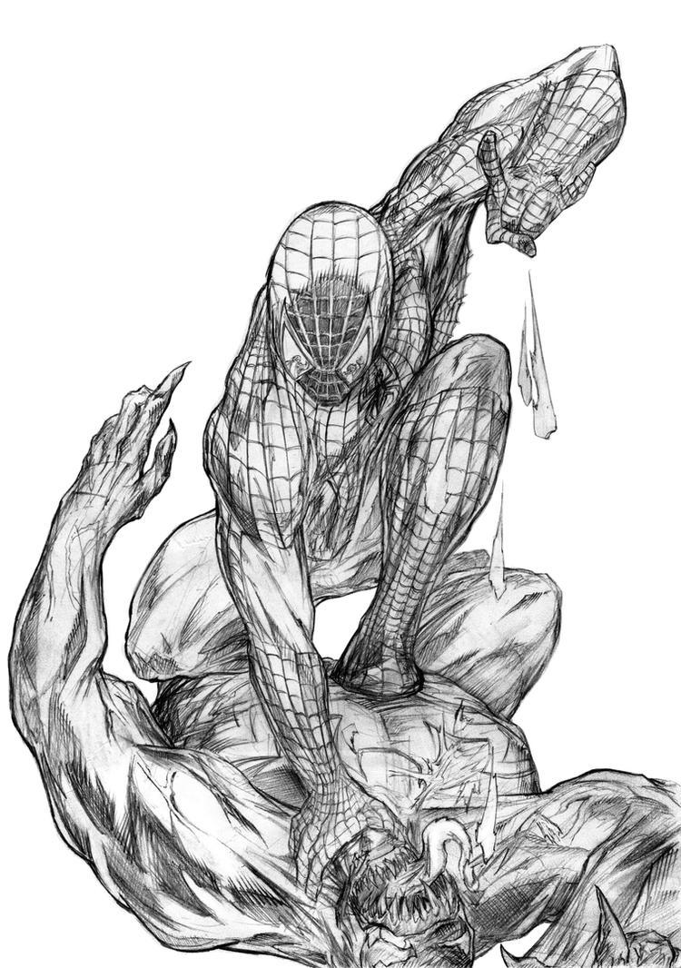 Free coloring pages venom - Color Me Spidey Venom By Sashameerchund