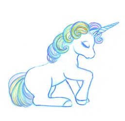 Rainbow Unicorn by toonishdreams