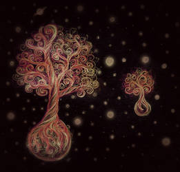 Space Trees by toonishdreams