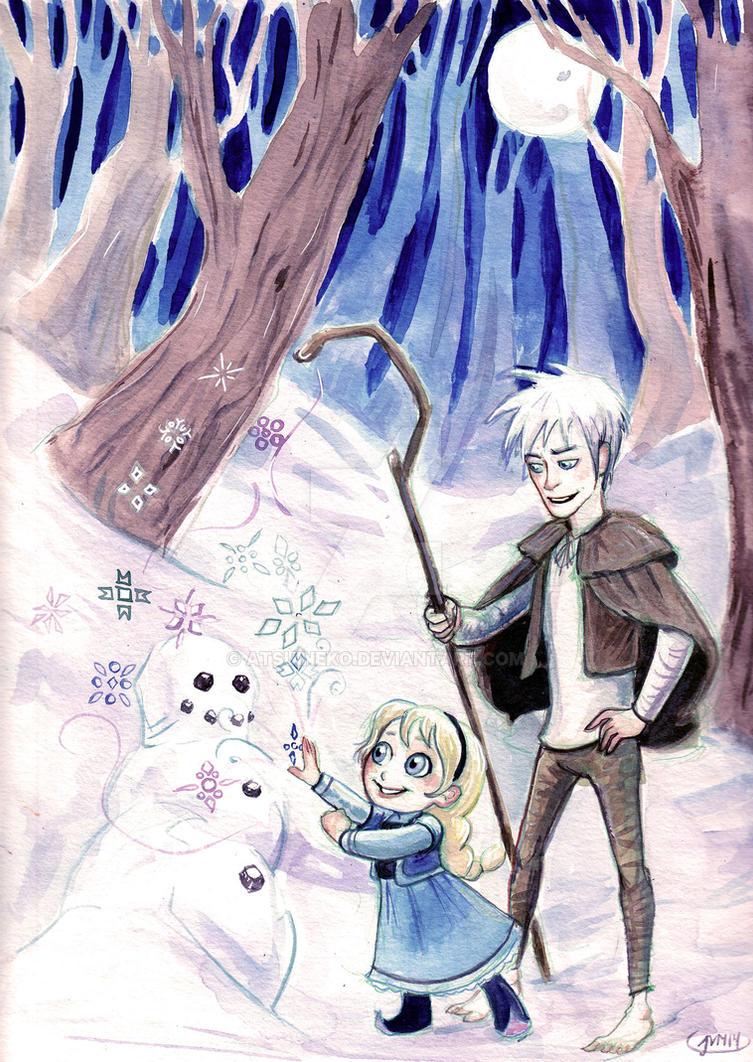 Jack+ Elsa by atsuineko