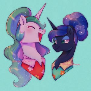 Celestia and Luna being adorbs