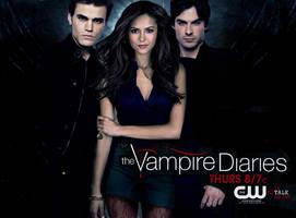 Vampire Diaries Poster by lola-de-vamp