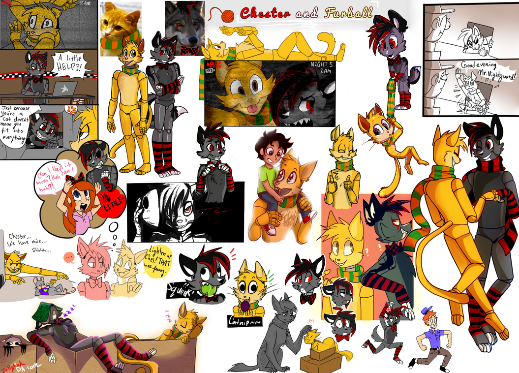 Chester and Furball - CM doodledump by JollyLink