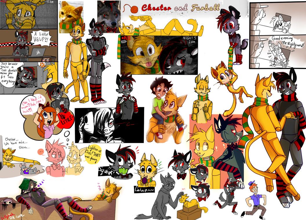 Chester and Furball - CM doodledump by JollyLink