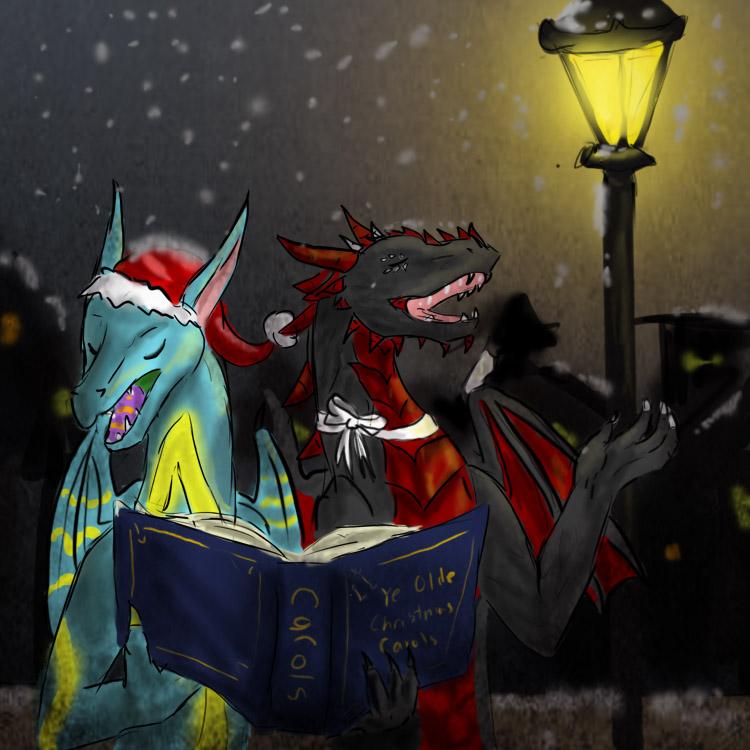 CAT: Caroling Night by wispywaffle