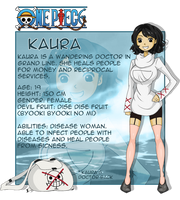 My OP OC -Kaura  (new reference sheet) by xKAURAx