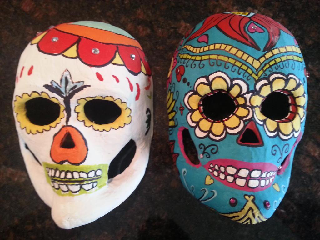 Day of the Dead Masks by icerose05 on DeviantArt