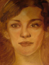 portrait with oil painting by kururu