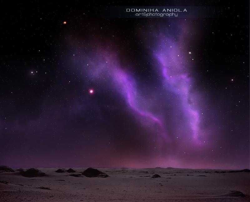 Night on the desert by DominikaAniola