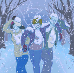 Snow Walk by CartoonEtiquette
