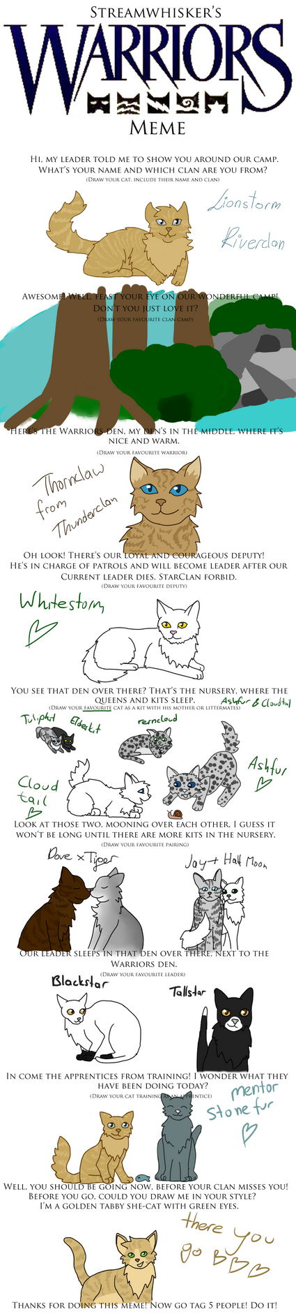 Warrior Cats Meme! :) by LeaFaciliter