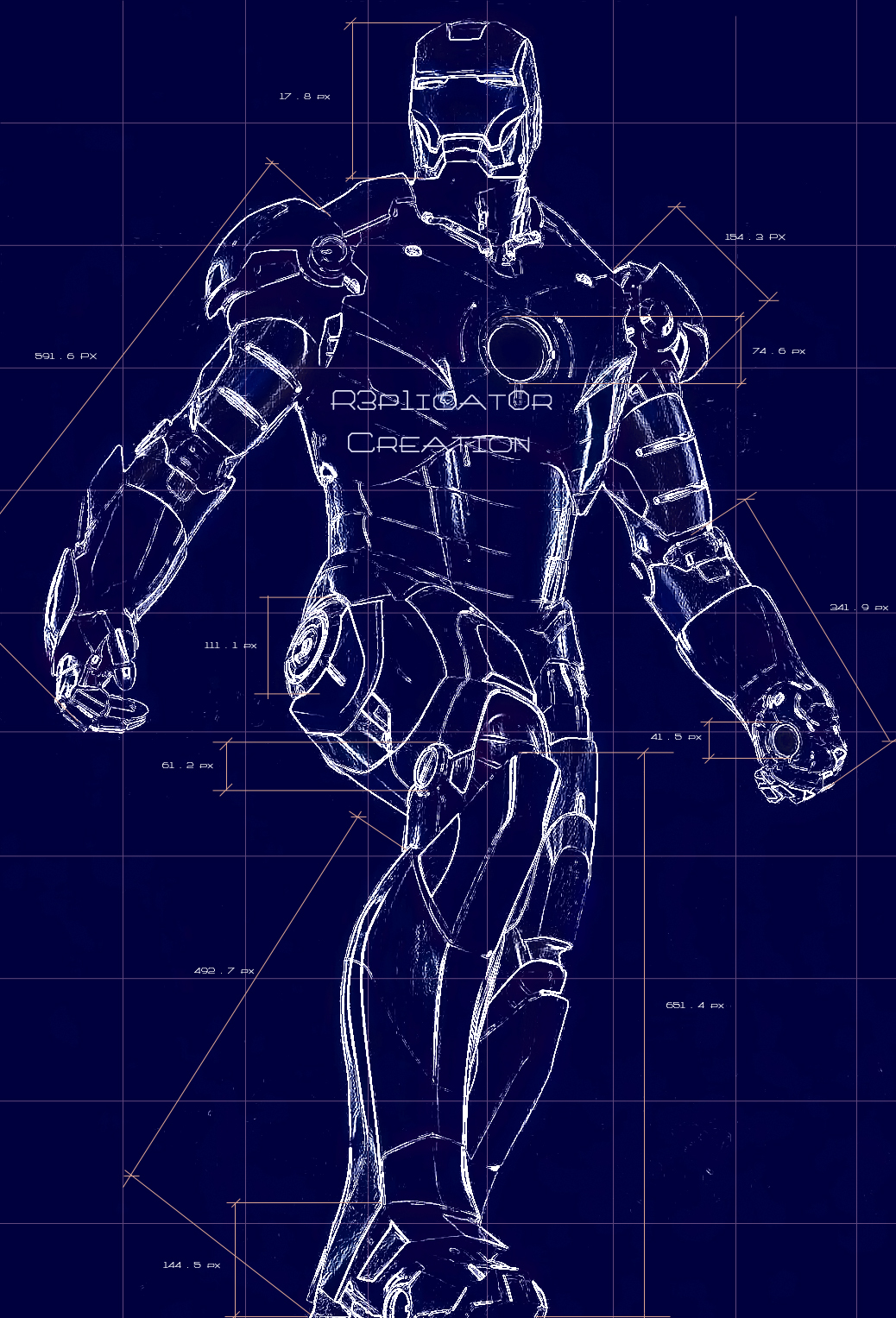 Ironman Suit Blueprint by r3p1icat0r