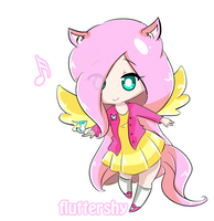 MLP Mane six - Fluttershy~ by Vitele37