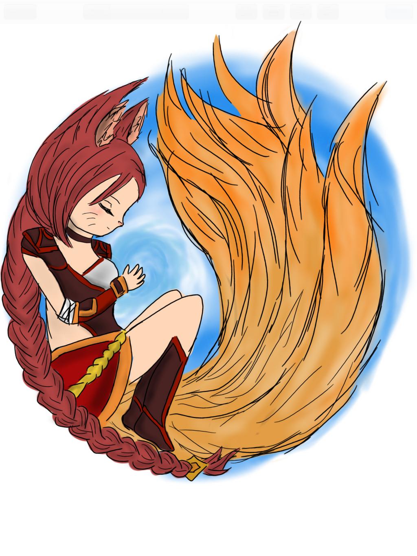 LoL- 'Mozilla' Foxfire Ahri by 13lue1ce on DeviantArt