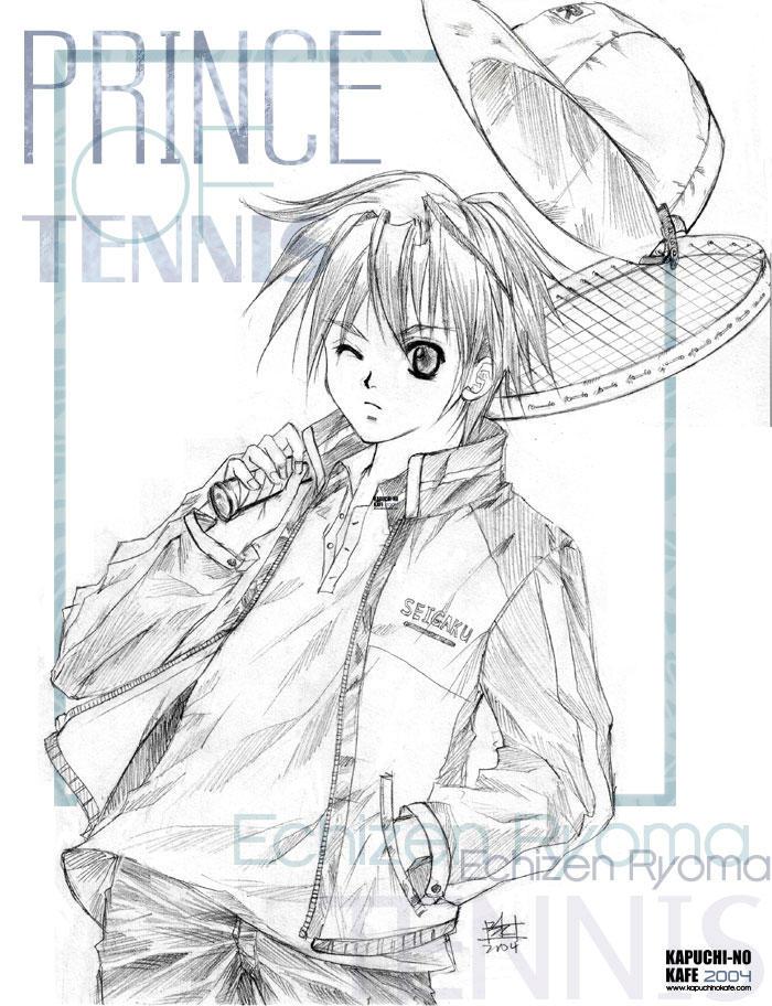Echizen Ryoma   ::Sketch:: by dokitori