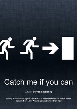 Catch Me If You Can (Minimal Movie Poster)