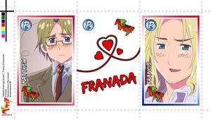 Pairing Series - Hetalia Stamps - Franada