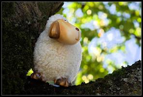 Sheep On Tree by slaute