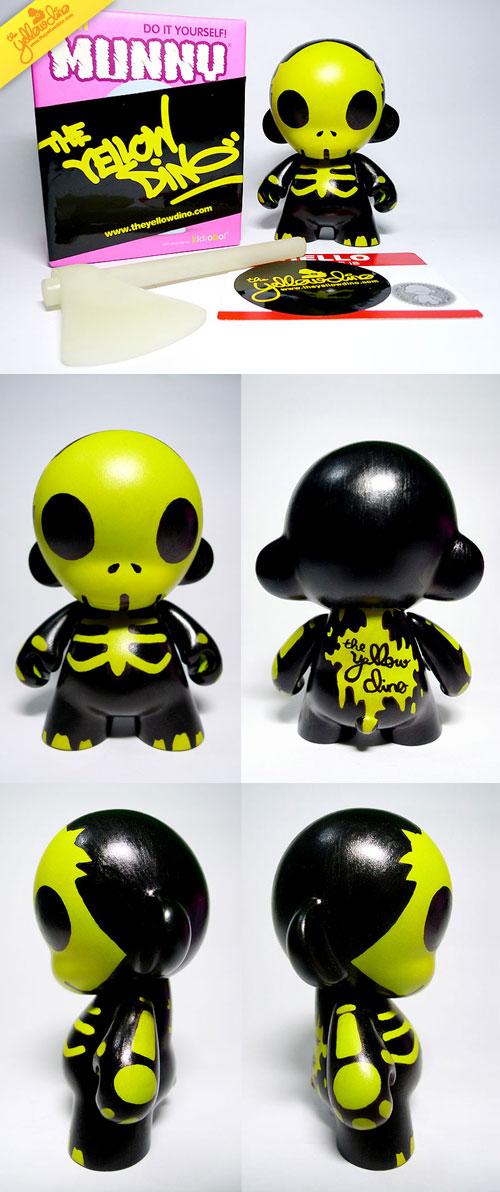 Halloween Mini Munny Custom by theyellowdino