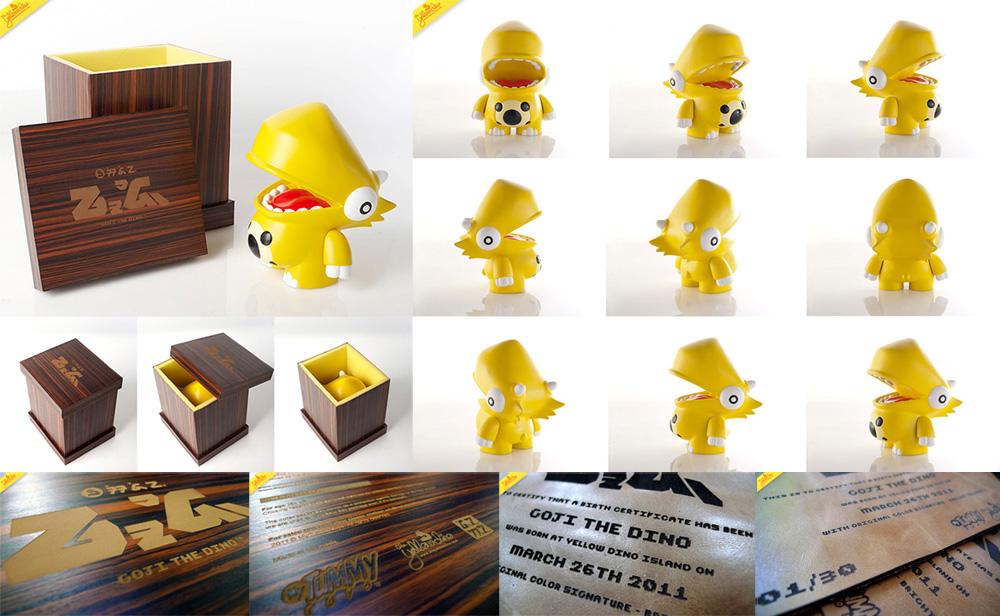Goji The Dino Art Toy by theyellowdino
