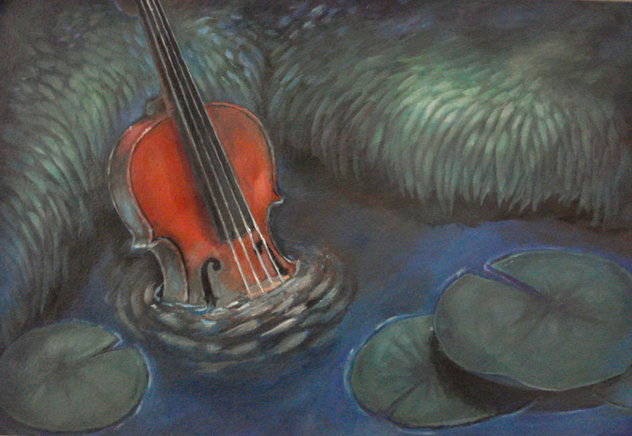Drowning Violin by ResidentFrankenstein