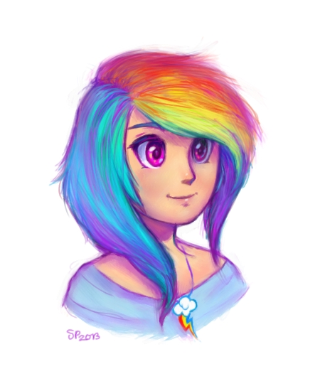 Rainbow Dash - Sketch by ResidentFrankenstein