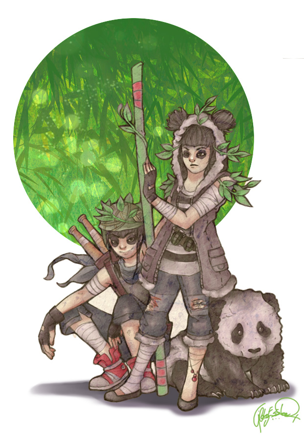 Panda Brothers by Bloodysfish