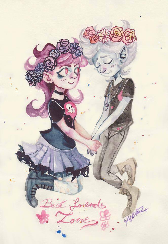 Best friends by Bloodysfish