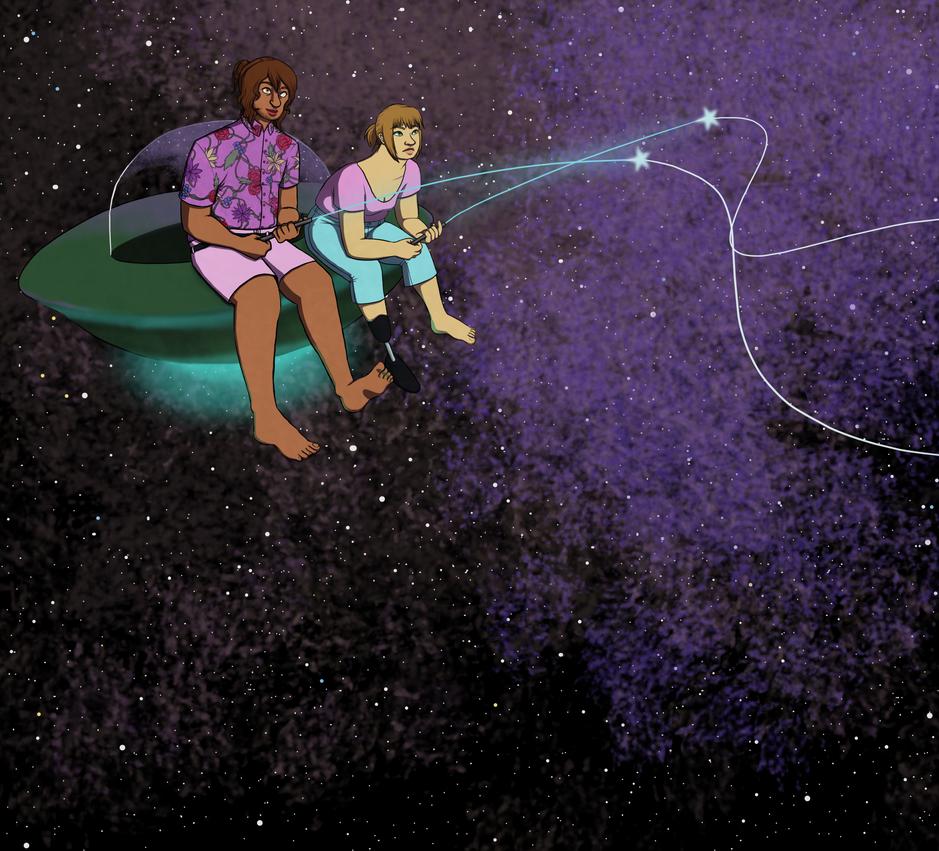 Star Fishing by vynn-beverly