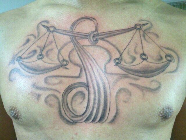 libra zodiac sign tattoo