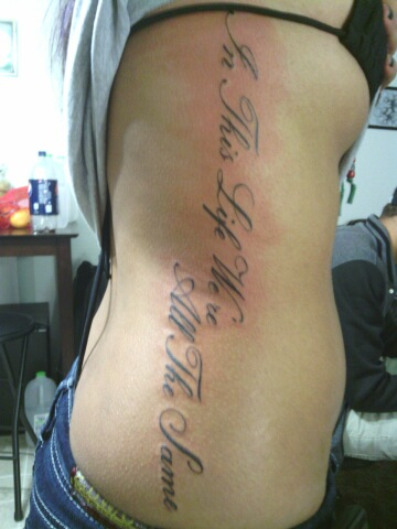 Writing tattoo on ribs by 216tattoos on deviantart for Tattoo writing on ribs