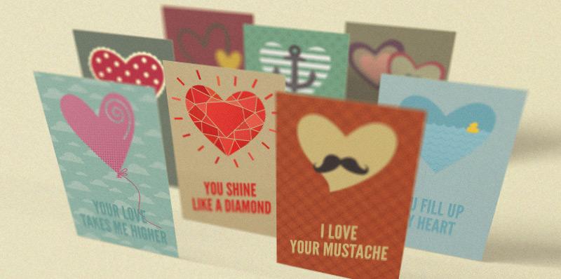 Valentine's Day Retro Greeting Cards