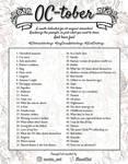 OC-TOBER Art Challenge prompt list
