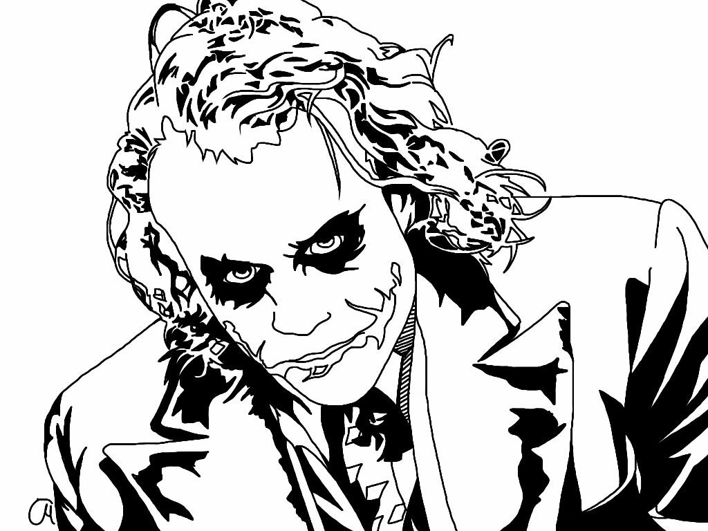 The Joker Line Art : The joker lineart wip by smileyclown on deviantart