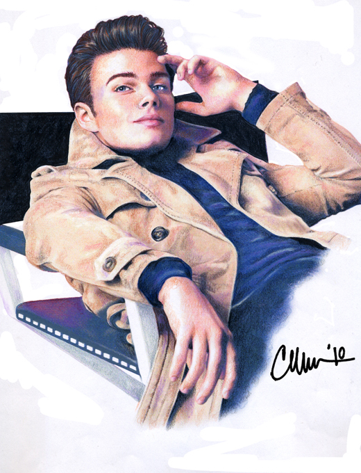 Chris Colfer - GQ - Drawing by Live4ArtInLA