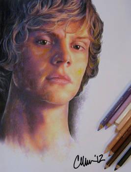 Evan Peters Drawing