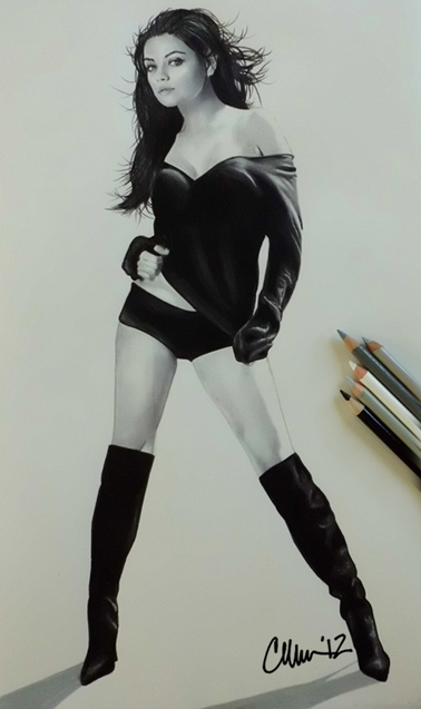Mila Kunis Drawing by Live4ArtInLA