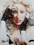 Christina Aguilera Drawing by Live4ArtInLA