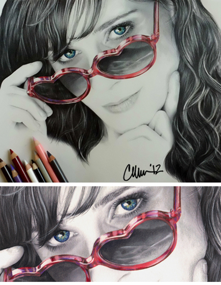 Zooey Deschanel Drawing by Live4ArtInLA