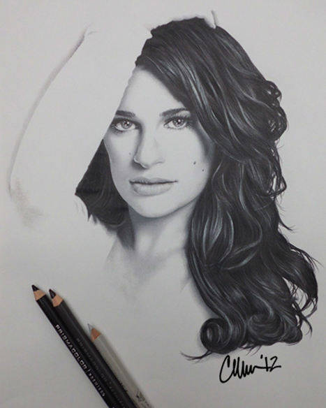 Lea Michele Drawing by Live4ArtInLA
