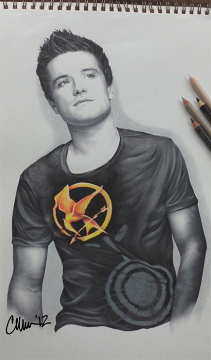 Josh Hutcherson Drawing by Live4ArtInLA
