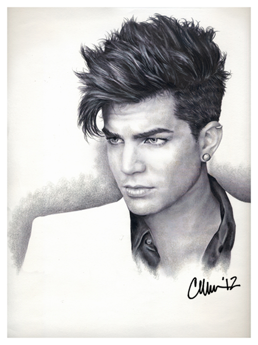 Adam Lambert Drawing (#2) by Live4ArtInLA