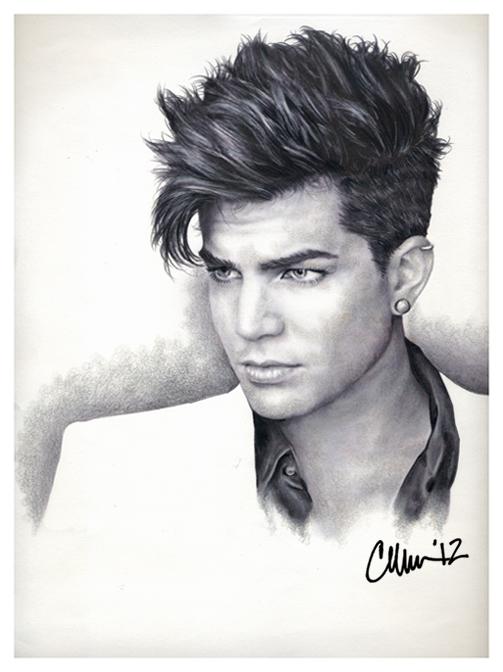 Adam Lambert Drawing (#2) by Live4ArtInLA