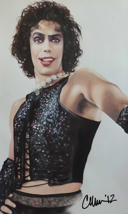 Tim Curry as Dr. Frank-N-Furter Drawing by Live4ArtInLA