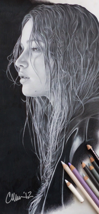 Jennifer Lawrence Drawing by Live4ArtInLA