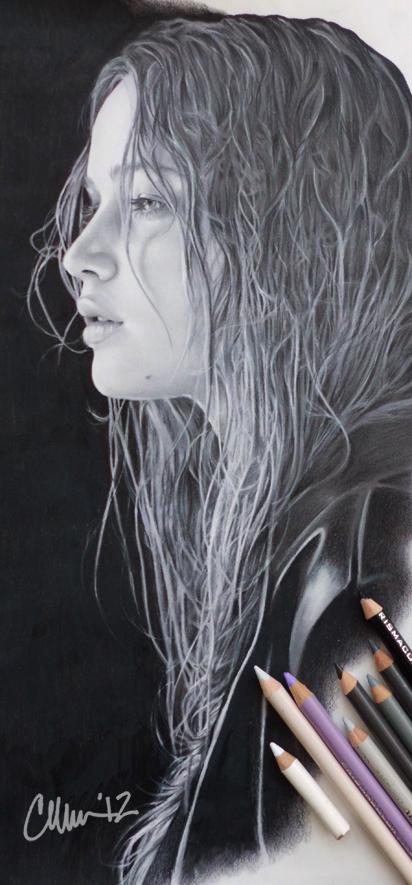 Jennifer Lawrence Drawing by Live4ArtInLA