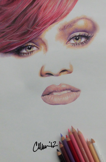 Rihanna Drawing by Live4ArtInLA