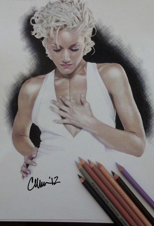 Gwen Stefani Drawing by Live4ArtInLA